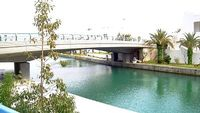 98m + garden + lake view and boats marina pool