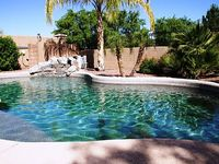 Private Desert Oasis with Tropical backyard Optional Pool Heat Built-in Gril