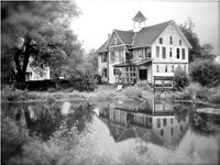 Grange turquoise Catskills du XIXe si cle transport maison tang