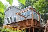 House 2 Bedrooms 2 Baths Sleeps 4-6 with hot tub on deck central AC heat