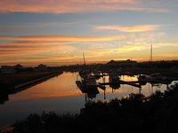 The Beach - SUNRISE over the marina with morning coffee