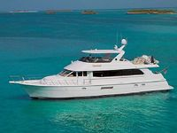 A Pristine 76 Foot Hatteras Motor Yacht Available For Charter In The Bahamas