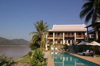Villa by pool on the Mekong river