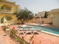 djerbienne villa with swimming pool and beach area tourisque