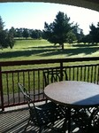 VIEW GOLF COURSE FROM BACK BALCONY RIVER MOUNTAINS FROM FRONT SCREENED PORCH