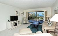 Light bright 3rd floor unit 2BR 2BA screened lanai great Crescent Beach view Chinaberry 435