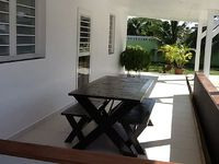 A fully air conditioned 2-bedroom house with 2 bathrooms