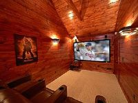 3 Master Suite Luxury Cabin with Private Home Theater Room 9 Foot Screen