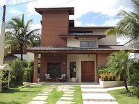 Sobrado 4 4 2suites L living room kitchen pool and churraqueira