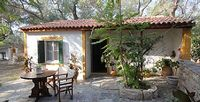 Three bedroom cottage with a pool tucked away above Marmari beach near Loggos