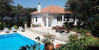 A two-bedroom villa with private pool gardens and sea views near Loggos