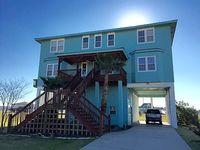 Beach Bay Views of Galveston Huge 5 bedrm 2 dining w Media room 2 King Masters