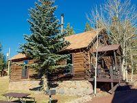 Historic Log 4 Bedroom 2 bath Cabin 6 at Antler Ridge in the center of Greer AZ