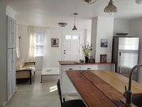 Loft bdrm with exposed beams views of Abbot Hall Walk to beach everything