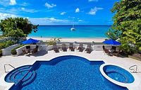 4 bedroom beach villa on the Barbados West Coast - excellent beach for swimming