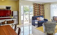 Tropical 3-bedroom apartment in Mauritius with balcony and pool 500 metres from the beach