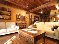 Cosy stone and wood building in the village of La Massana