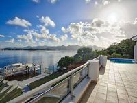 AMARYLLIS Pay for 5 nts stay for 7 Modern 5 BR waterfront villa boat dock full AC close to Maho Mullet Bay beach