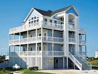 Cape Winds 6 BR Oceanview home in Rodanthe - large outdoor entertainment area