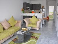 The brand new apartment is 150 meters from the beach in the tourist area