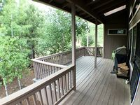 3 Br 3 Ba With Amazing Porch And BBQ Shade Chairs Walk To National Forest