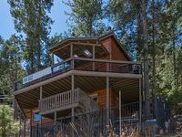 Surrounded by forest Impressive log home with luxurious interior amenities