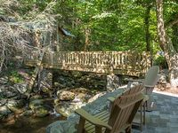Rustic 1BR 1BA cabin directly on and ABOVE the historic Roaring Fork Stream