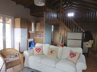 quiet renovated studio with mezzanine in large olive grove