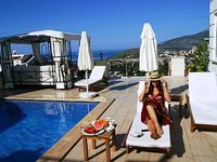 Villa in Kalkan Antalya Mediterranean Region Turkey - 10 minute walk to town outdoor dining good size terrace for sun bathing