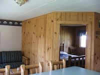 Fishing cabin overlooking creek walking distance to river country setting