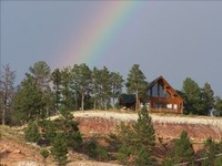 Devils Tower View Custom Cabin in Beautiful Black Hills Wy