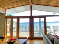 Hood Canal Octopus Hole Beach Cabin 315 of oyster-rich waterfront