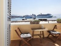 Apartment Xenios with sea view waterfront old town balcony air conditioning