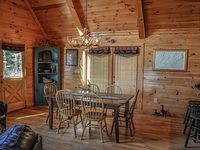 5BR 4BA Luxury Cabin With A Beautiful Mountain View Wifi Pet Friendly Gas Grill Pool Table Air Hockey Gas And Wood Burning Fireplaces Outdoor Fire Pit Private Hot Tub and Jetted Tub Wheel Chair Accessible