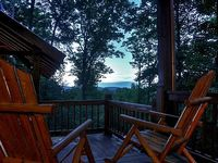 3BR 3BA Luxury Cabin Sleeps 6 Wifi Hot Tub Gas Grill Foosball Table Flat Screen TVs In Each Bedroom Outdoor Sitting Area With Outdoor Fireplace And Flat Screen TV