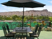 Huge 1100 square ft private lanai with panoramic view of Diamondhead