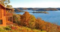 2 Story Log Cabins with 180 Degree Views of Beaver Lake