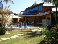3Qts Suite Air conditioning 4 Rooms 4Banheiros Beautiful Garden BBQ