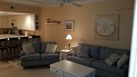 3 bedrooms 1 King 1 Queen Twin beds sleeper sofa 2 full baths sleeps 8