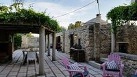 Very complete traditional trullo with large garden terraces outdoor pool and Wi-Fi