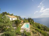 3 bedroom villa with stunning sea views private pool and short walk from Loggos