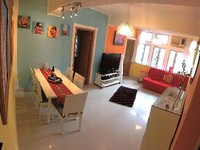 5 rooms 2BR sleeps 3 to 6 plus 1 cot seperate kitchen bath huge living room