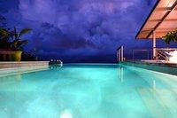 Villa Vini Moana - jacuzzi piscine vue mer - hauteurs de Tahiti- 8 pers