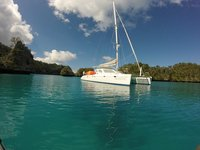 Voile Catamaran Quixotic Savusavu Fidji