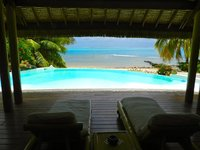 Pool amp Beach Villa Bliss 1 TAHITI VILLAS